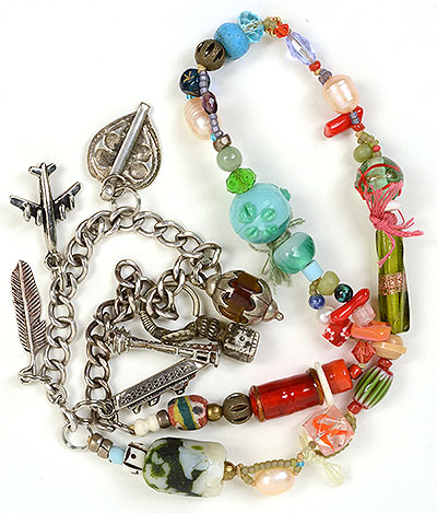"""""""Talisman for Safe Journey"""" necklace by Kathleen O'Brien"""