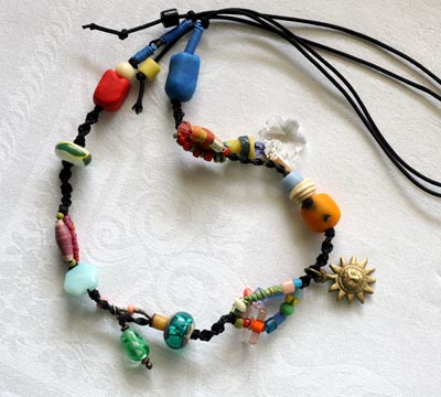"""""""Talisman for Sun Lovers"""" bead necklace by Kathleen O'Brien"""