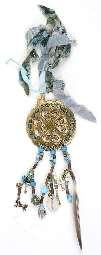 """Talisman for 4 Elements"" beaded bridle decoration Kathleen O'Brien"