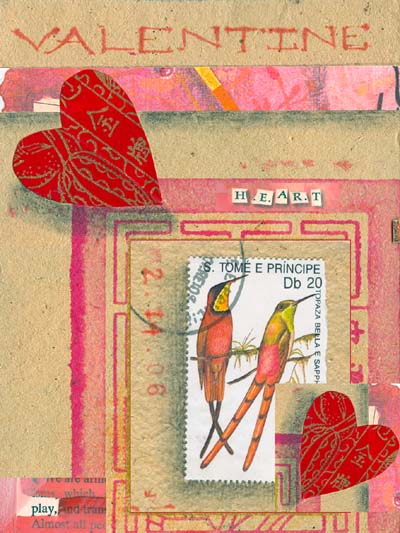 Happy Valentines day, in advance, collage by Kathleen O'Brien