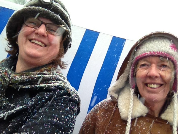 June and Donna in Vilnius 2013