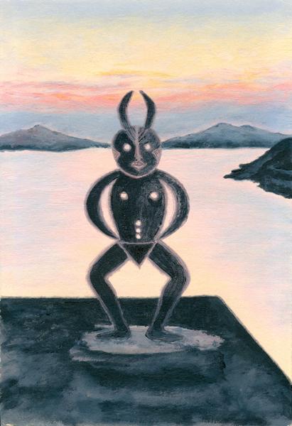 """""""Metamorphosis 1"""", oil by Kathleen O'Brien, 1983"""