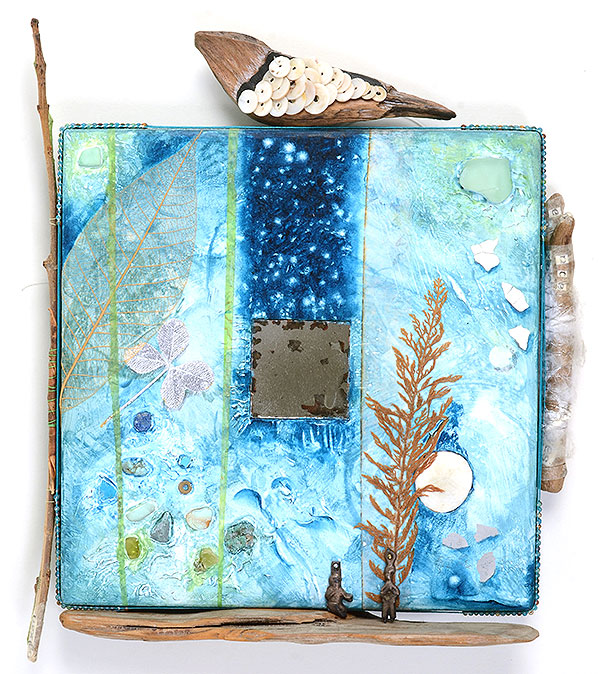 Talisman for Children, Mixed Media collage Kathleen O'Brien