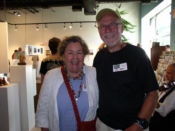 "KO'B & Ray Papka at ""notBIG(3)""exhibit, photo Greg Orth"