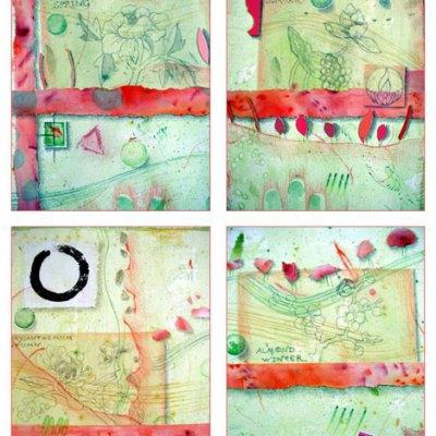 4 Seasons Garden of Healing Card Set Kathleen O'Brien
