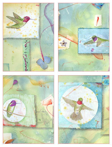 Hummingbirds Card Set Kathleen O'Brien