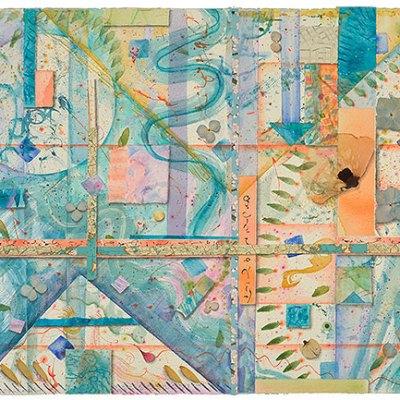 Crossroads and Quadrants, watercolor, drawing, Kathleen O'Brien