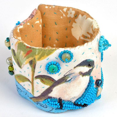Talisman for Chickadees, cuff by Kathleen O'Brien