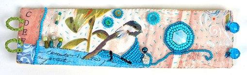 Talisman for Chickadees, cuff by Kathleen O'Brien