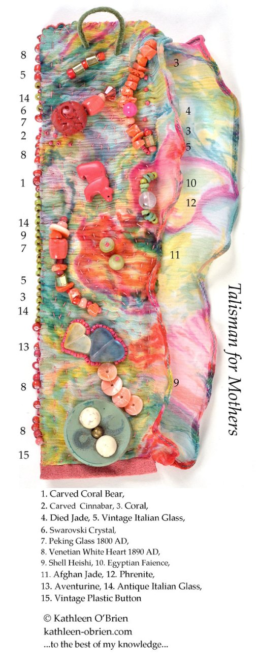 Talisman for Mothers, cuff bead ID by Kathleen O'Brien