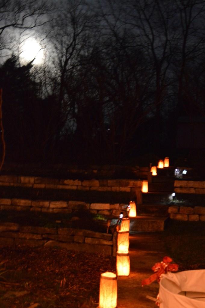 Luminarios & Full Moon On Christmas Eve at Sunwise Farm and Sanctuary, Greg Orth