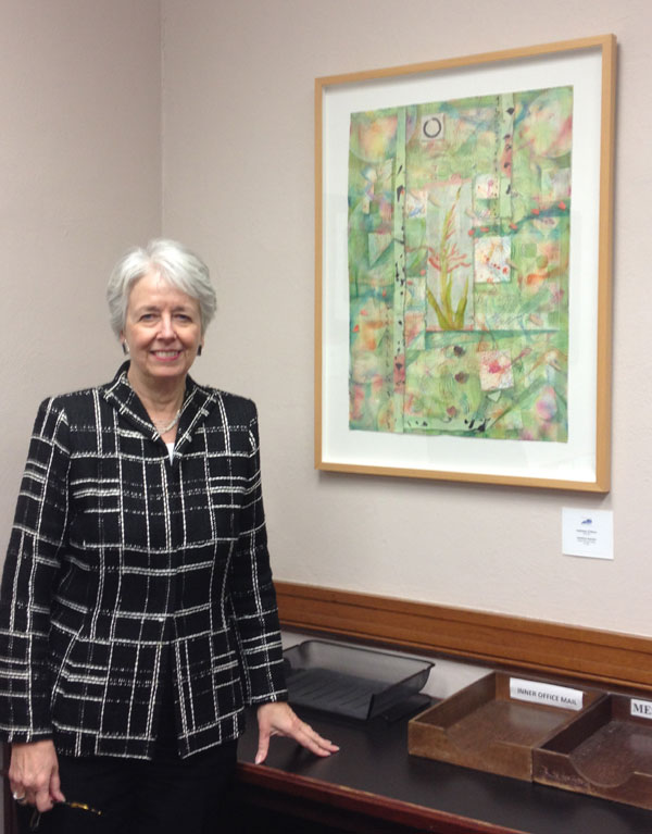 """Gladiola Garden"" by Kathleen O'Brien in Lt. Governor Crit Luallen's Office - Kentucky Treasures, State Capitol, Frankfort, KY"