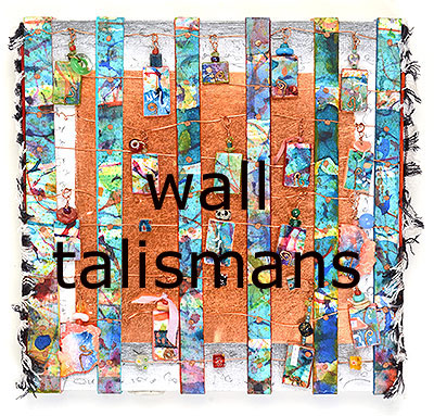 Wall Talismans, mixed media 3-D assemblages by Kathleen O'Brien