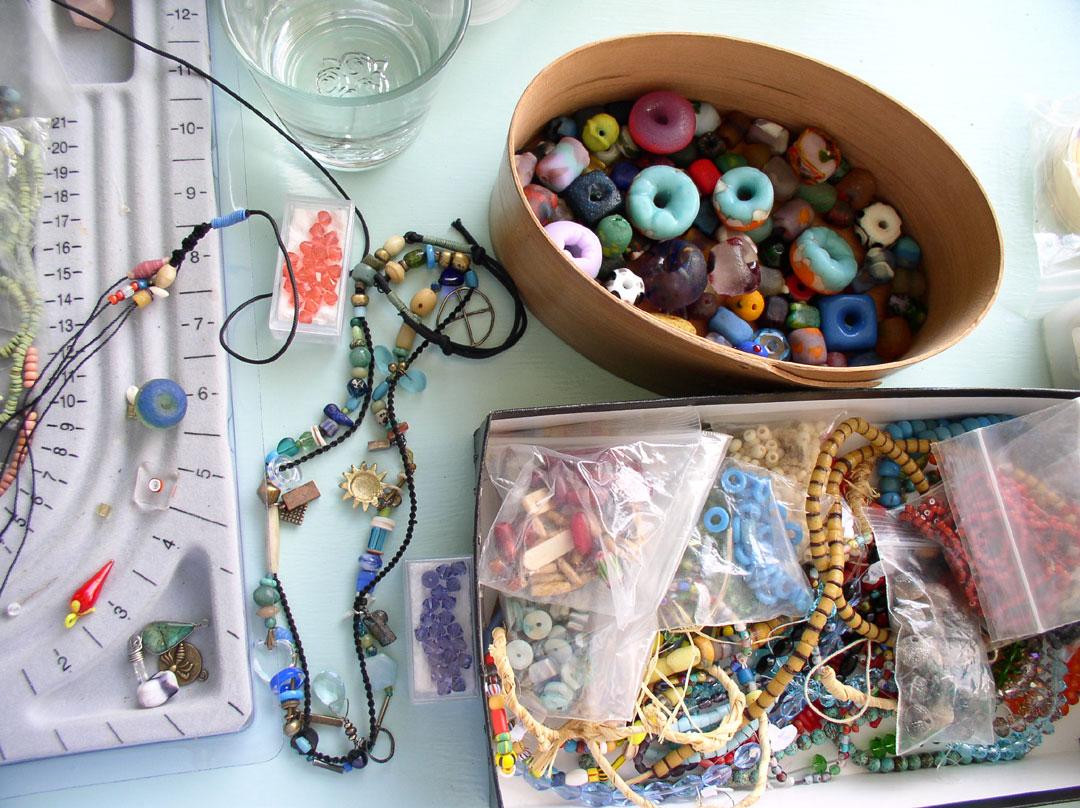 More beads in Kathleen O'Brien Studio