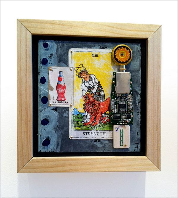 Patrick Donley ~ Strength ~ mixed-media on wood