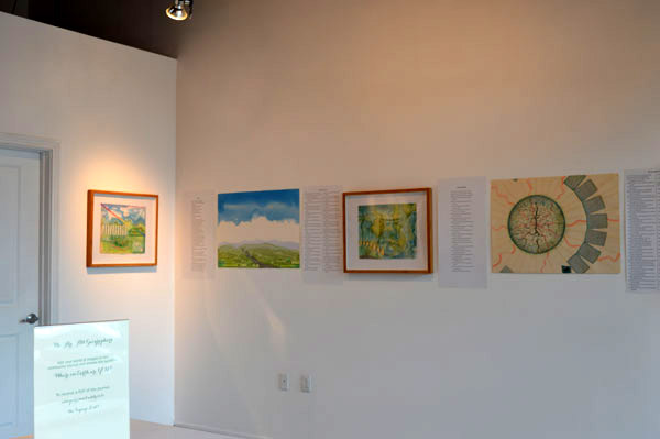 "A few artworks and poems just hung for ""Drawn to the Earth"""
