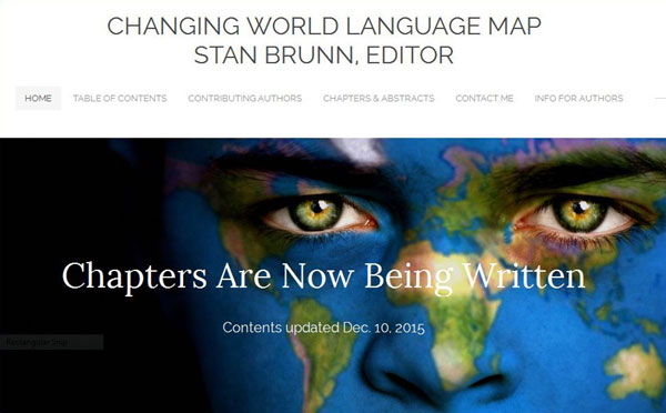 """The Changing world Languale Map"" Home Page"