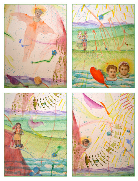"""Big Cloud, Silver Lining"" card set by Kathleen O'Brien"