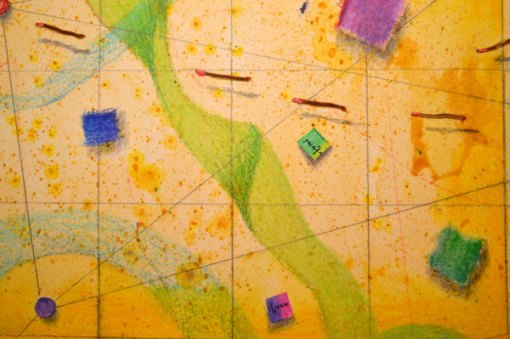 Coming Together, detail 3, collage by Kathleen O'Brien, 22x30