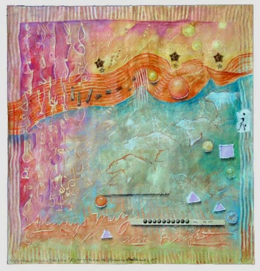 Light of the Earth 10, collage by Kathleen O'Brien