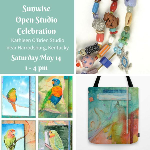 Sunwise Open Studio Celebration flyer by Kathleen O'Brien