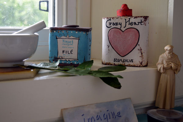Liz' Crain's Ceramics on the Kitchen Windosill
