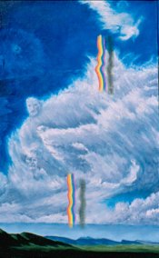 Long Path to Peace, oil 1990, Ribbon detail by Kathleen O'Brien