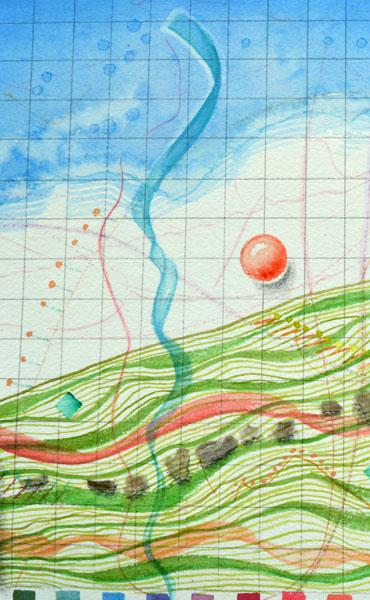 Mound Map Ribbon detail by Kathleen O'Brien