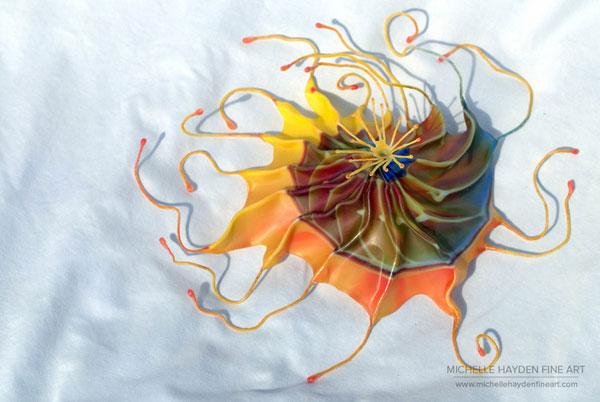 """Inner Light"", encaustic sculpture by guest artist Michelle Hayden"