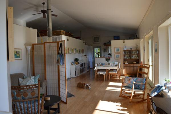 Front room of Kathleen O'Brien Studio
