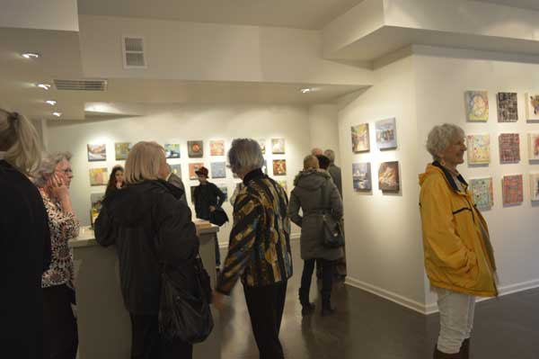 Elsie Harris, artists and more art at Gridworks Reception, photo: Greg Orth