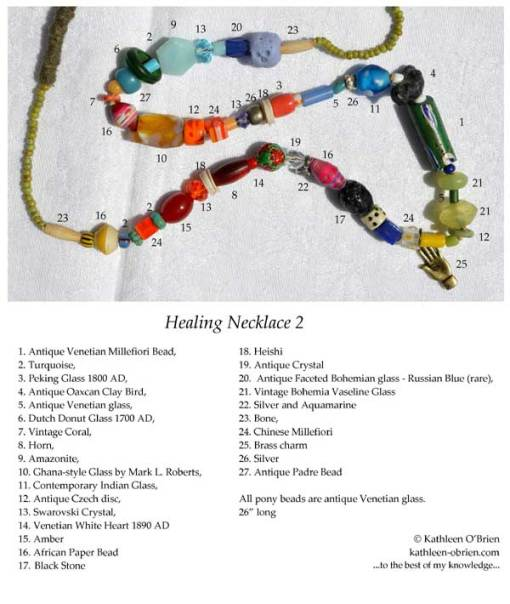 ID tag for Healing Necklace 2 by Kathleen O'Brien
