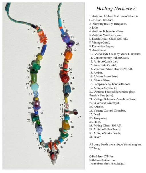 Healing Necklace 3 ID tag by Kathleen O'Brien