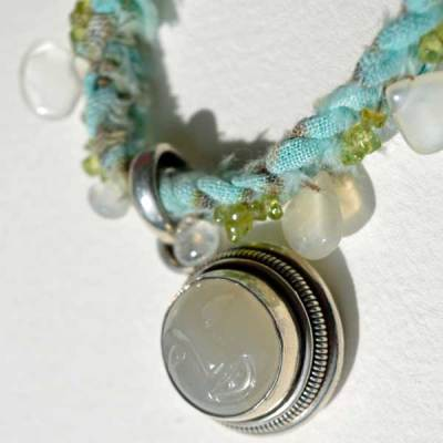 Healing Necklace 7 detail 1 by Kathleen O'Brien