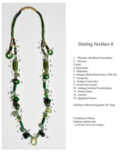 Healing Necklace 8 ID tag by Kathleen O'Brien