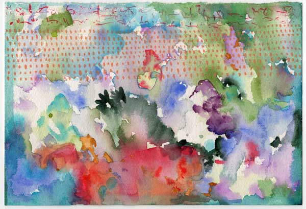 An abstract watercolor by Kathleen O'Brien