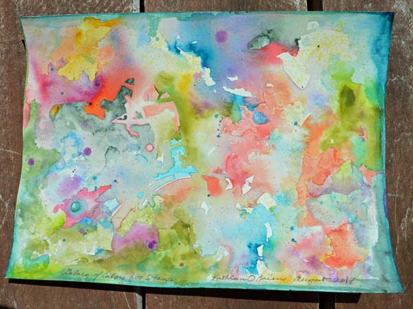 Galxies of Color, watercolor 9X12 by Kathleen O'Brien