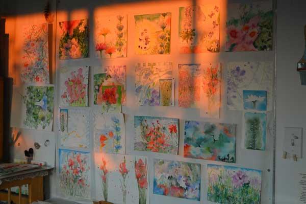 Summer watercolors by Kathleen O'Brien at Equinox