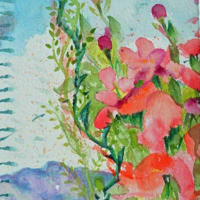 """Bouquet 20"", watercolor by Kathleen O'Brien, 6x4.5"""