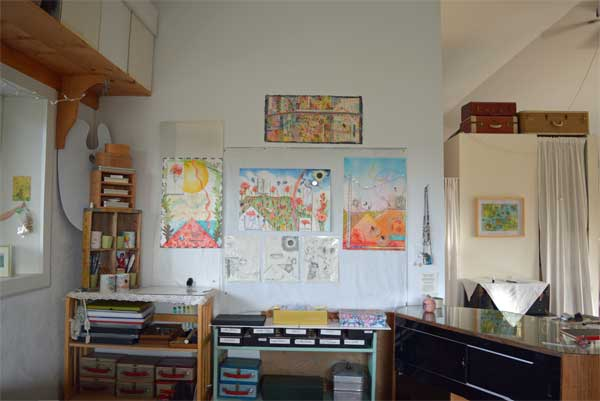 """""""4, 5,and 6 , Summer/South Atlas of the Year"""", 22x15"""", and drawings at ARTTOUR display by Kathleen O'Brien"""