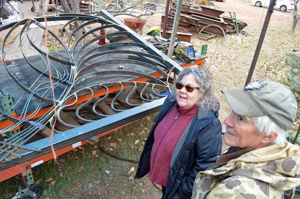 Gate in process, collaboration between Matthew Jarrett and Robert Bellows