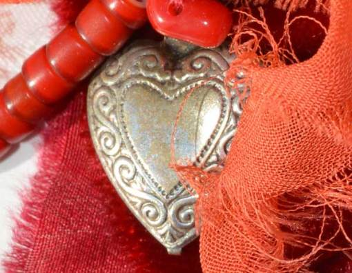 Talisman for Passion, detail of necklace by Kathleen O'Brien