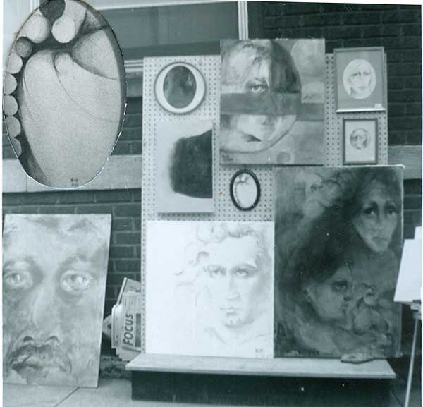 1968, first art show display of oil painting and drawings by Kathleen O'Brien