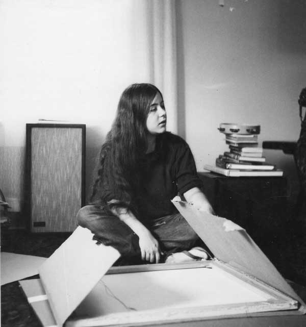 Packing art for the move to Boulder,1970