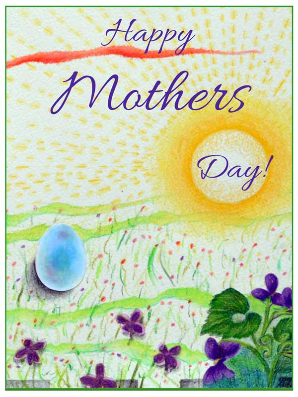 Happy Mothers Day card #325 by ©Kathleen O'Brien
