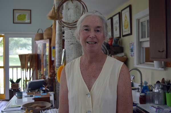 Jennifer Gleason in the Sunflower Sundries Market Shop
