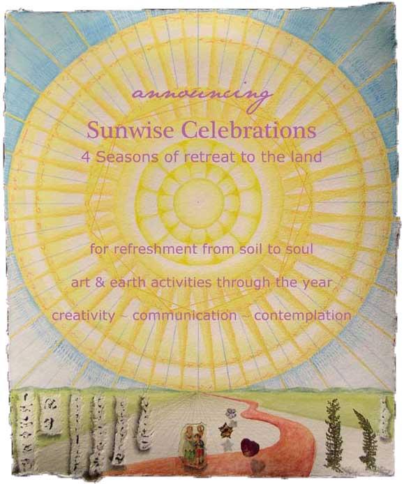 "© Kathleen O'Brien, ""Announcing Sunwise Celebrations"","