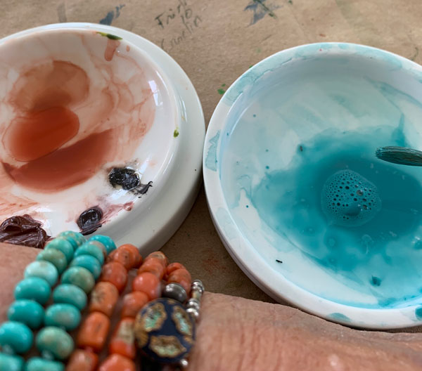 Primatek Minnesota Pipestone, Sleeping Beauty Turquoise and Coral and Turquoise bracelets by Kathleen O'Brien for interview