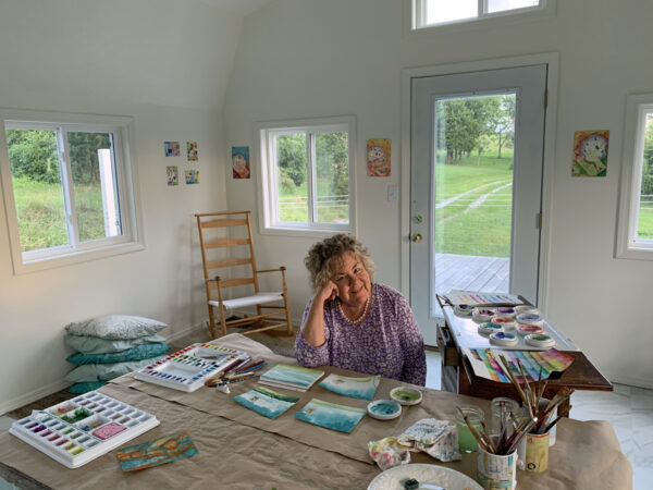 Kathleen O'Brien in her Studio
