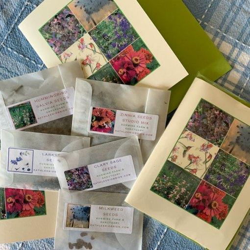 Callilng All Butterflies & Hummingbirds Seed Mix grown at Sunwise Farm & Sanctuary
